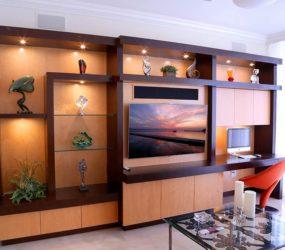 custom home entertainment center