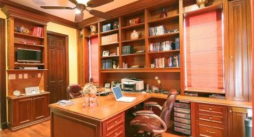 high-end custom home office cabinetry in West Palm Beach